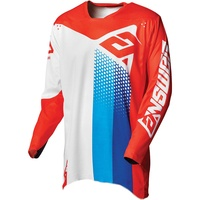 Answer 2021 Pace Elite Jersey White/Red/Hyper Blue