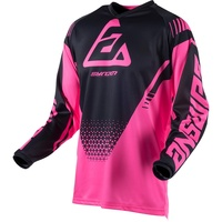 Answer Syncron Voyd Youth Jersey Black/Charcoal/Pink