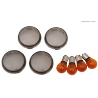 Drag Specialties 0906-6316 Indicator Lens Kit Smoked FXST/FXD 00-Up XL 02-Up Includes Amber Bulbs  SAE APPROVED Oem 69304-02