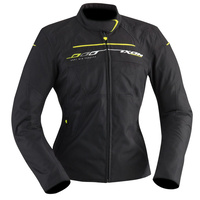 Ixon Helia Textile Ladies Jacket Black/Bright Yellow