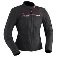 Ixon Helia Textile Ladies Jacket Black/Fuchsia