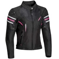 Ixon Ilana Textile Ladies Jacket Black/Fuchsia