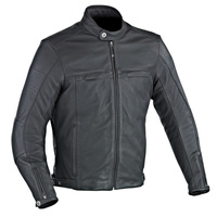 Ixon Copper Slick Leather Jacket Black