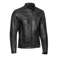 Ixon Crank Leather Jacket Black