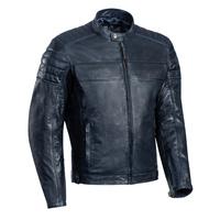 Ixon Spark Leather Jacket Navy