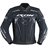 Ixon Frantic Leather/Textile Jacket Black/White