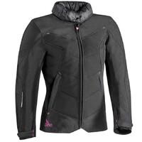 Ixon Helka LS Textile Ladies Jacket Black/Fuchsia
