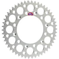 Renthal 112U52049G Ultralight Grooved Rear 49T Sprocket Silver