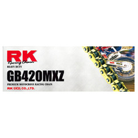 RK Racing 12-42M-126GD Heavy Duty Chain GB420MXZ 126 Link Gold