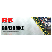 RK Racing 12-48M-126GD Heavy Duty Chain GB428MXZ 126 Link Gold