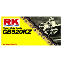 RK Racing 12-523-120GD Heavy Duty Chain GB520KZ 120 Link Gold