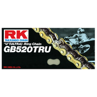 "RK Racing 12-529-120GD ""U""(Ultra)-Ring Chain GB520TRU 120 Link Gold"