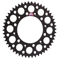 Renthal 123U52048GBK Ultralight 48T Rear Sprocket Black for Suzuki RM RMZ DRZ DR