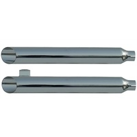 "Rush 15304-175 Touring Chrome Series Muffler Baloney Cut w/1.75"" Baffle for Touring 95-09"