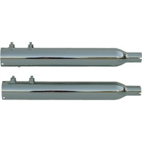"Rush 15305-150 Touring Chrome Series Muffler Tip Compatible w/1.50"" Baffle for Touring 95-09"