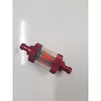 "Fuel Filter 5/16"" Plactic Style Red Custom Use"