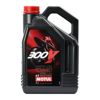 Motul 16-408-04 300V Factory Line Road Racing 10W 40 4L