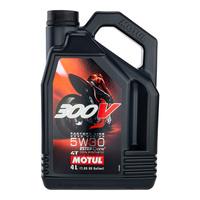 Motul 16-424-04 300V Factory Line Road Racing 5W 30 4L