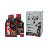 Motul 16-900-05 Race Oil Change Kit for Kawasaki KX250F 04-18