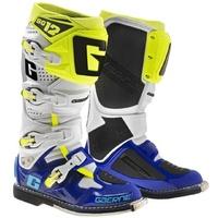 Gaerne SG-12 Boots White/Blue/Fluro Yellow