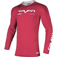 Seven Rival Rampart Jersey Fluro Red