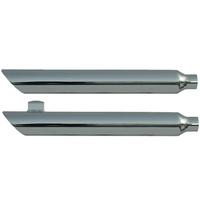 """Rush 28601-175 Dyna Chrome Series Muffler Slash Down w/1.75"""" Baffle for Dyna & Wide Glide Models 10-17 & Fat Bob 08-17"""