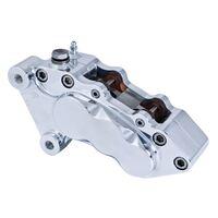 Jay-brake 306-062 Chrome J-Six Series Caliper Smooth Right Side Big Twins 2000-14 fits Custom Applications