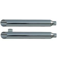 """Rush 34204-150 Sportster Chrome Series Muffler Baloney Cut w/1.50"""" Baffle for Sportster 14-17"""