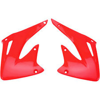 UFO 3693070 Radiator Shrouds Red for Honda CRF 450 CRF450R 2002-04