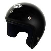 THH T380 Open Face Helmet w/Studs Painted Gloss Black