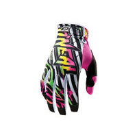 Oneal Jump Automatic Gloves - White/Neon - Adult XXL For Motocross Use