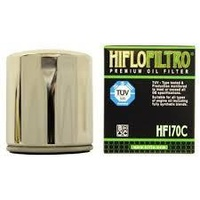 Hiflo Filtro Oil Filter HF170C Chrome Big Twin Models 80-98 (exc Dyna) Softail 84-99 & Sportster 84-Later Oem 63796-77a