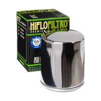 Hiflo Filtro Oil Filter HF171C Chrome Twin Cam Models 99-17 & Milwaukee-Eight 17-up Oem 63798-99