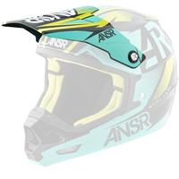 Answer Replacement Visor Peak Black/Teal for EVOL2 Helmets