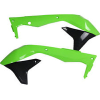 UFO 4736999 Radiator Shrouds OEM Green/Blue for Kawasaki KX450F 2016