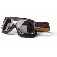 Ariete 54-139-90BR Vintage Goggle Brown Leather