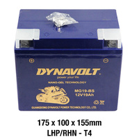 Dynavolt Gel Battery MG19-BS Battery 12 Volt NANO-GEL Series
