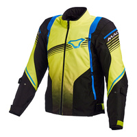 Macna Charger Jacket Black/Yellow/Blue