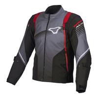 Macna Charger Jacket Black/Grey/Red