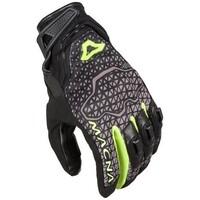 Macna Assault Gloves Black/Grey/Fluro Yellow