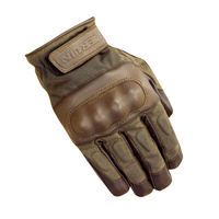 Merlin Ranton Wax/Leather Gloves Brown