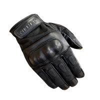 Merlin Ranton Wax/Leather Gloves Black