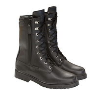 Merlin Combat Leather Boots Black