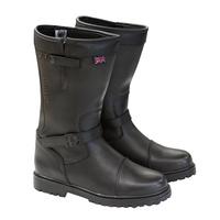 Merlin Keele Leather Boots Black