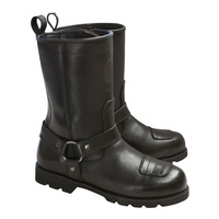 Merlin Charger Leather Boots Black