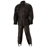Nelson-Rigg Rainsuit AS-3000-BLK-02-MD Deluxe 2 Pce Black M (each)
