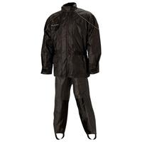Nelson-Rigg 67-630-14 Deluxe 2 Piece Rainsuit Black Size LG