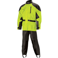 Nelson-Rigg 67-630-96 Deluxe 2 Piece Black/Hi-Vis Rainsuit Size 2XL