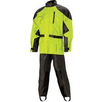 Nelson-Rigg 67-630-98 Deluxe 2 Piece Black/Hi-Vis Rainsuit Size 4XL