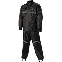 Nelson-Rigg 67-660-12 Deluxe 2 Piece Black Rainsuit Size S